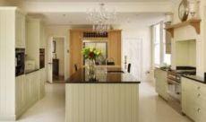 Modern cream painted kitchen cabinets ideas 57