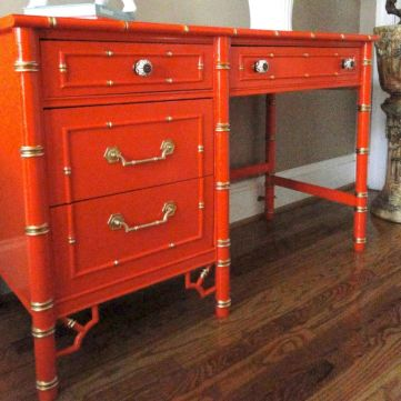 Painted faux bamboo furniture design 29