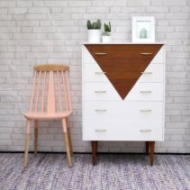Painted mid century modern furniture 17