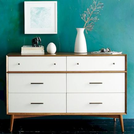 Painted mid century modern furniture 31