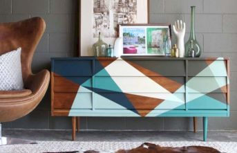 Painted mid century modern furniture 33