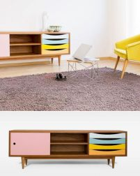 Painted mid century modern furniture 37