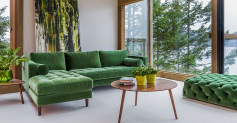 Painted mid century modern furniture 46