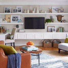 Simple living room design ideas with tv 21