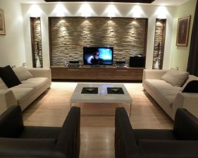 Simple living room design ideas with tv 30