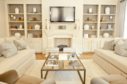 Simple living room design ideas with tv 38