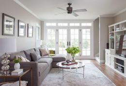 Simple living room design ideas with tv 57