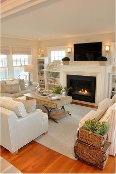 Simple living room design ideas with tv 60