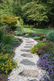 Stunning garden design ideas with stones 20