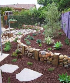 Stunning garden design ideas with stones 30