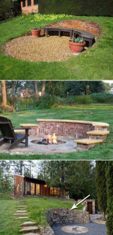 Stunning garden design ideas with stones 33