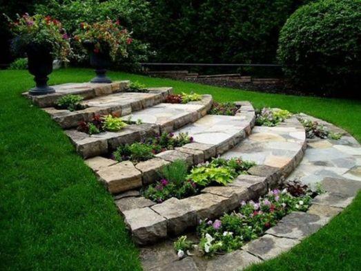 Stunning garden design ideas with stones 41