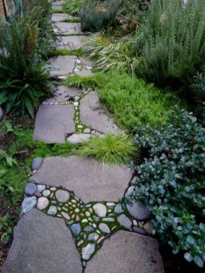 Stunning garden design ideas with stones 42