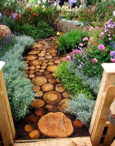 Stunning garden design ideas with stones 43