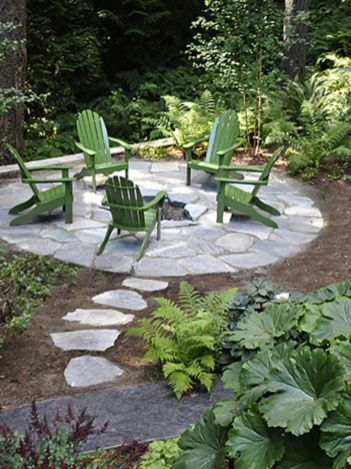 Stunning garden design ideas with stones 44