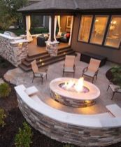 Stunning garden design ideas with stones 46