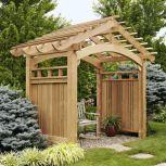 Stunning garden pergola ideas with roof 23