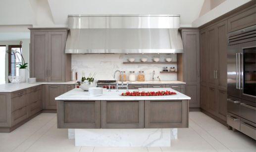 Stunning grey wash kitchen cabinets ideas 20