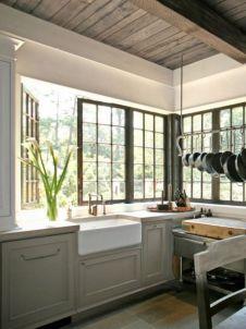 Stunning grey wash kitchen cabinets ideas 41