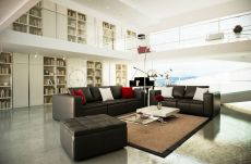 Stunning red brown and black living room design ideas 21