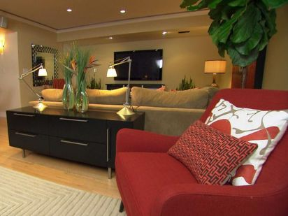 Stunning red brown and black living room design ideas 71