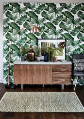 Stylish dark green walls in living room design ideas 10