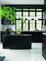 Stylish dark green walls in living room design ideas 18