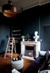 Stylish dark green walls in living room design ideas 40