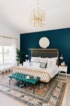 Stylish dark green walls in living room design ideas 50