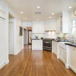 Stylish kitchen designs ideas with corner sinks 03