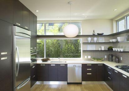 Stylish kitchen designs ideas with corner sinks 04