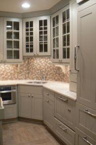 Stylish kitchen designs ideas with corner sinks 09