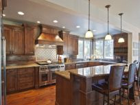Stylish kitchen designs ideas with corner sinks 15