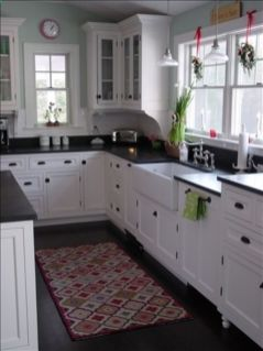 Stylish kitchen designs ideas with corner sinks 18