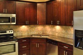 Stylish kitchen designs ideas with corner sinks 34