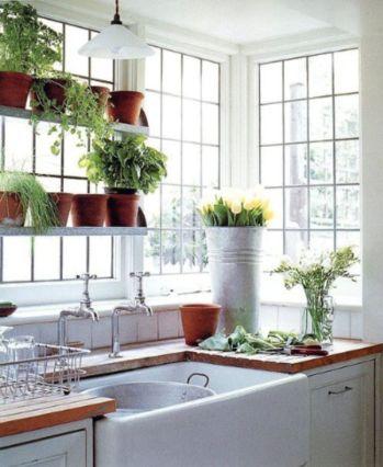 Stylish kitchen designs ideas with corner sinks 64