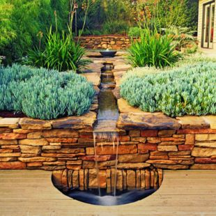 Stylish outdoor garden water fountains ideas 05