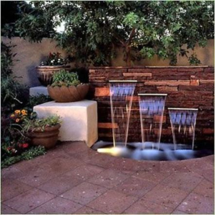Stylish outdoor garden water fountains ideas 08