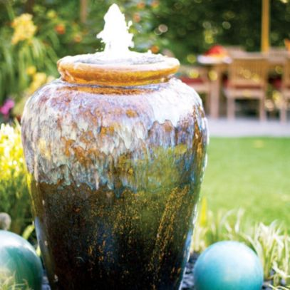 Stylish outdoor garden water fountains ideas 14