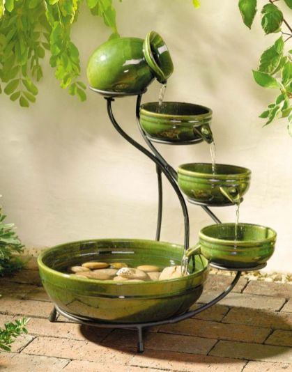 Stylish outdoor garden water fountains ideas 20