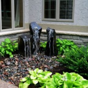 Stylish outdoor garden water fountains ideas 41