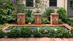Stylish outdoor garden water fountains ideas 42