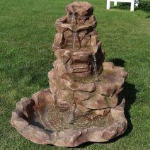 Stylish outdoor garden water fountains ideas 45