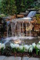 Stylish outdoor garden water fountains ideas 47