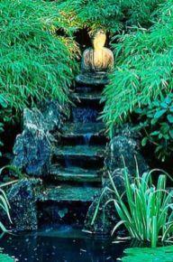 Stylish outdoor garden water fountains ideas 54