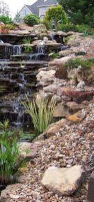 Stylish outdoor garden water fountains ideas 55