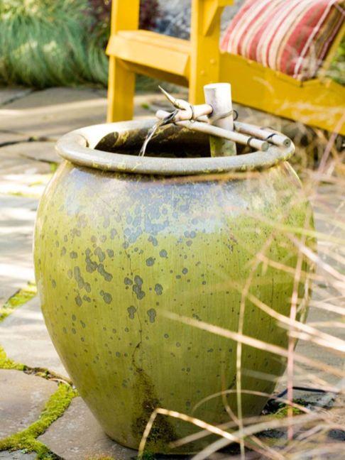 Stylish outdoor garden water fountains ideas 56