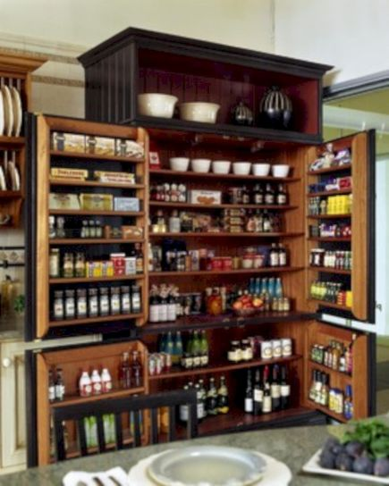 Amazing stand alone kitchen pantry design ideas (10)