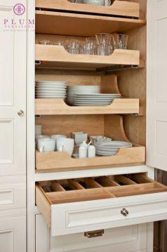 Amazing stand alone kitchen pantry design ideas (16)