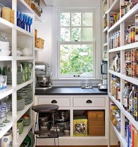 Amazing stand alone kitchen pantry design ideas (22)